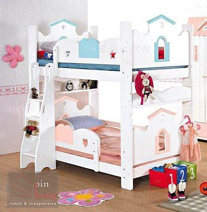 【尚品家具】376-01 彩虹城堡 3.5尺書架型雙層床~可拆成兩張單人床架/上下舖床台
