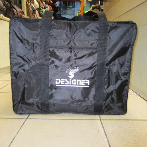 ~雪黛屋~DESIGNER 折疊收納備用旅行袋 環保購物袋棉被收納袋超輕防水尼龍布台灣製#白(中型)