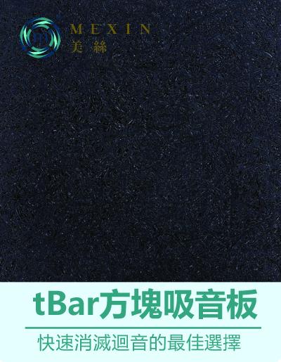 輕鋼架天花板專屬~ Mexin美絲【寧靜黑】彩色tBar方塊吸音板