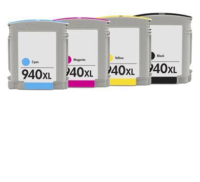 【台灣耗材】HP 940XL相容墨水匣C4906AA黑色C4907AA藍色C4908AA紅色C4909AA黃色(NO.940 XL)(單顆任選) 適用OfficeJet Pro 8000/8500w印表機