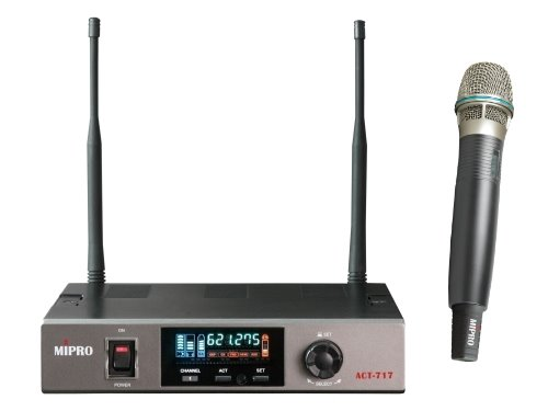 麥克風 無線麥克風MIPRO ACT-717 UHF無線麥克風ACT-7H 單頻道自動選訊接收機 無線麥克風 麥克風