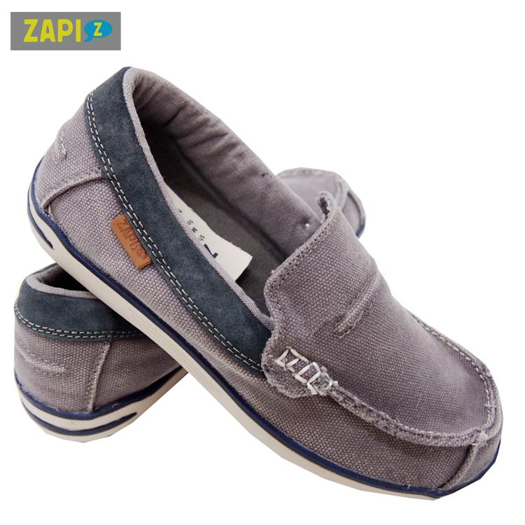 ZAPI-水洗休閒懶人鞋-水洗灰