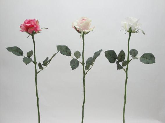 23吋 愛莉絲玫瑰-乳白 / 人造花 空間 景觀 佈置 造景