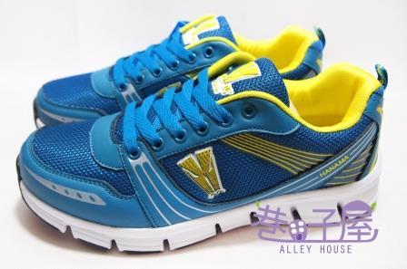 【巷子屋】Hanama悍馬 男款撞色超輕量寬楦慢跑運動鞋 [3109] 藍黃 超值價$498
