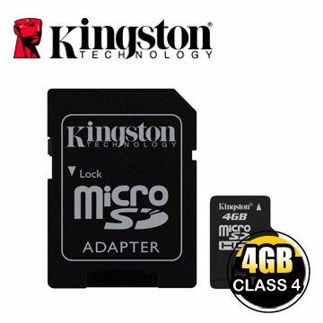 *╯新風尚潮流╭*金士頓記憶卡 4G 4GB Micro SDHC Class 4 C4 SDC4/4GB