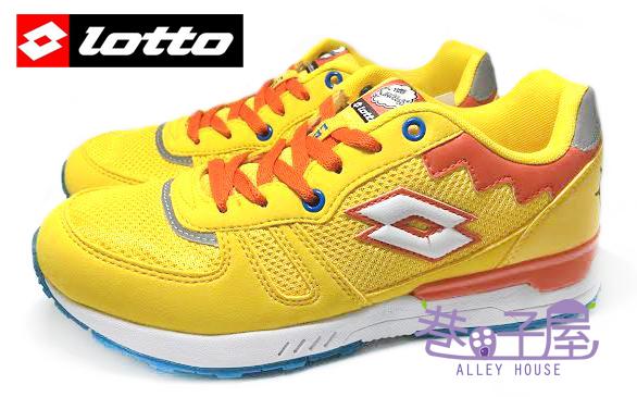 【巷子屋】義大利第一品牌-LOTTO樂得 SIMPSONS辛普森 女款復古風運動慢跑鞋 [2814] 橘黃 超值價$590