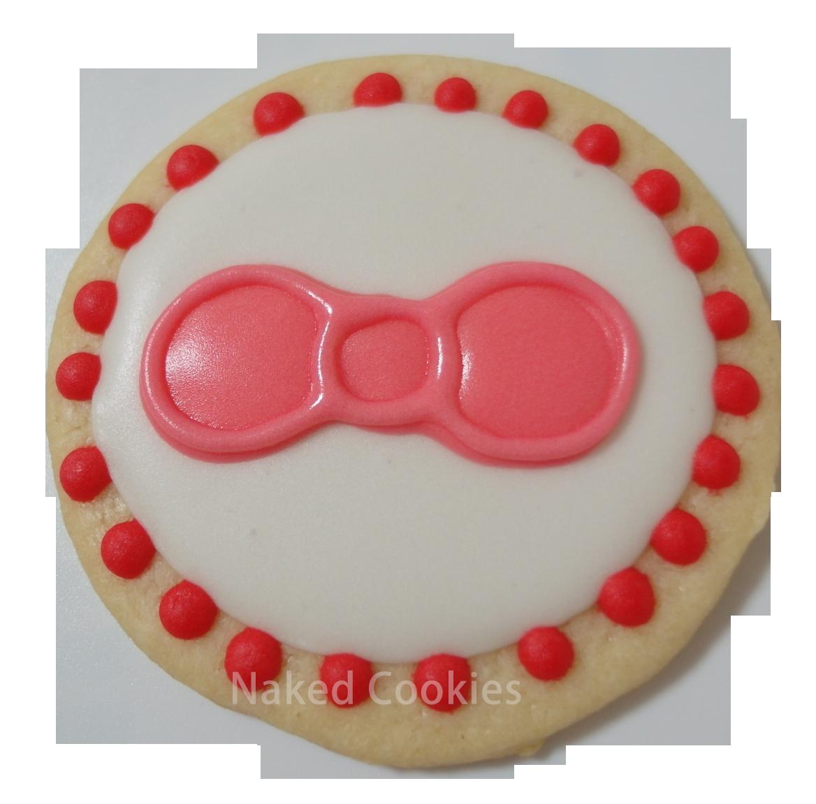 【裸餅乾Naked Cookies】Kitty粉紅蝴蝶結-特殊客製6入-創意手工糖霜餅乾,婚禮/生日/活動/收涎/彌月