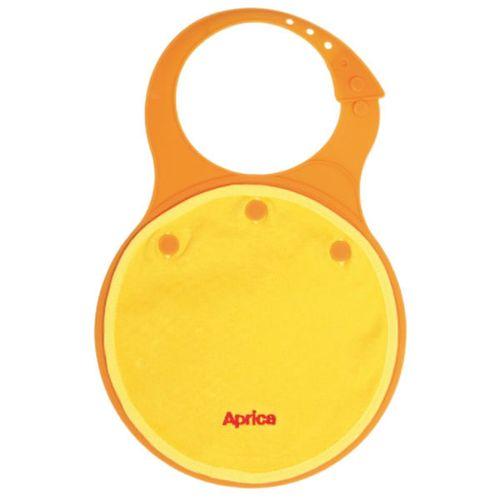 ★衛立兒生活館★【 Aprica】柔軟型餐用圍兜兜(橘/黃/綠)