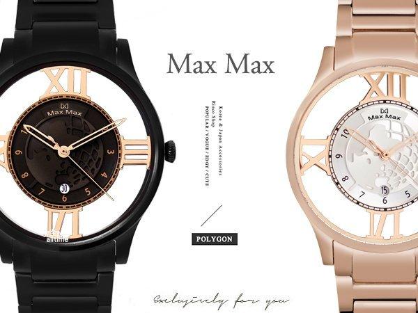 【完全計時】手錶館│Max Max 多功能新款下殺鋼帶 藍寶石水晶陶瓷錶 極限鏤空 MAS7010 日期 雷射地球 顯示