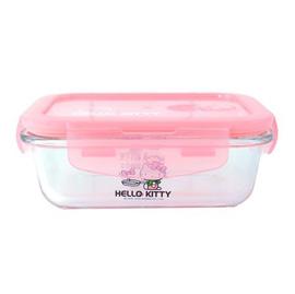 【悅兒樂婦幼用品舘】HELLO KITTY 凱蒂貓 耐熱玻璃保鮮盒710ml (長方形)