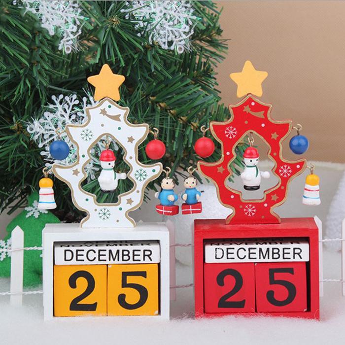 糖衣子輕鬆購【DS198】創意DIY聖誕節裝飾品木質聖誕節日曆桌面裝飾擺件聖誕禮物