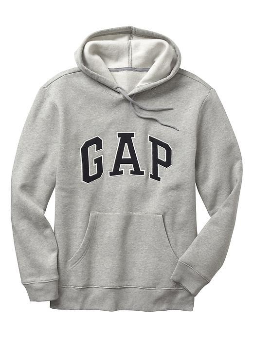 【蟹老闆】GAP【現貨】美國 GAP 經典文字LOGO款 男生 灰色黑字 長袖帽T