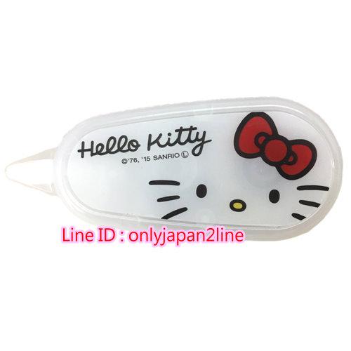 【真愛日本】16100700018修正帶6M-KT大臉    三麗鷗 Hello Kitty 凱蒂貓 立可帶 文具用品  日本帶回