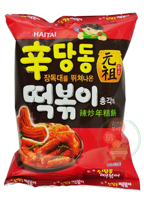 【韓購網】韓國辣炒年糕餅乾103克(中包)★韓國暢銷餅乾