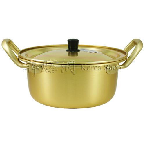 【韓購網】韓國泡麵鍋含蓋(18cm,金色)★煮泡麵、泡菜豆腐鍋、火鍋最方便
