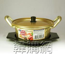 【韓購網】韓國金色泡麵鍋+鍋底(16cm,金色)★韓國人最愛用的一人用鍋★煮一人份泡麵、泡菜豆腐鍋、小火鍋最方便