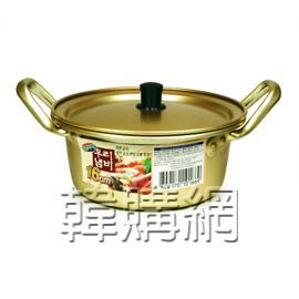 【韓購網】韓國泡麵鍋含蓋(16cm,金色)★韓國人最愛用的一人用鍋★煮一人份泡麵、泡菜豆腐鍋、小火鍋最方便