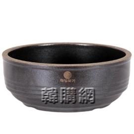 【韓購網】韓國陶鍋(F0301)★不含鍋底★深咖啡色,頂無突有粗,寬19.2高7.4cm
