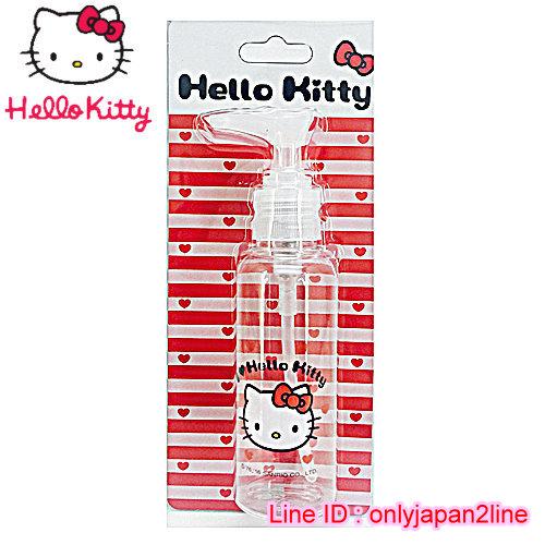 【真愛日本】16101900020擠壓瓶100ML-KT愛心紅  三麗鷗 Hello Kitty 凱蒂貓 收納盒/擠壓瓶/噴霧瓶  旅用組