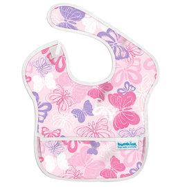 【淘氣寶寶】2016年最新 美國Bumkins防水兒童圍兜(一般無袖款6個月~2歲適用)-粉紅蝴蝶 【保證公司貨】