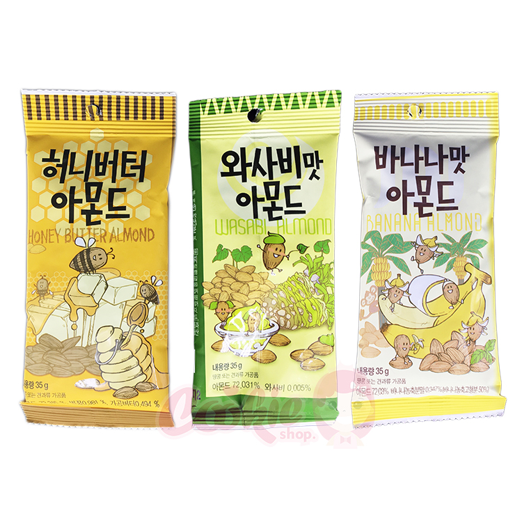 韓國 Gilim 蜂蜜奶油/芥末/香蕉杏仁果(35g)【庫奇小舖】
