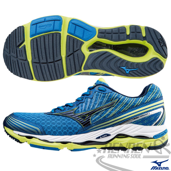 MIZUNO美津濃 男 扁平足慢跑鞋 WAVE PARADOX (藍*黑) 輕量支撐型