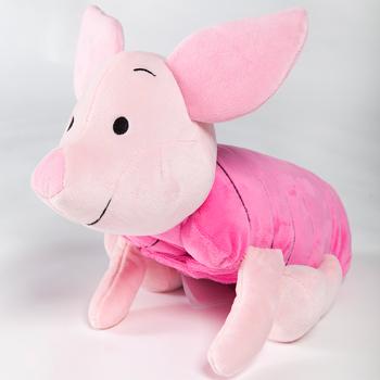 免運【禾宜精品】迪士尼  小豬 多功能玩偶毯 玩偶 毛毯 枕頭 Zoobies Disney Piglet  YZB116