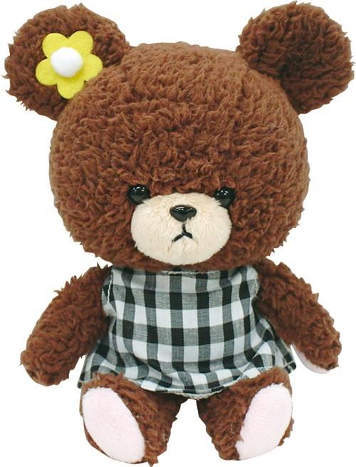 【真愛日本】15072800054軟絨沙包手玉娃-格子裙  迪士尼 大學熊 UniBEARsit  擺飾 收藏 正品