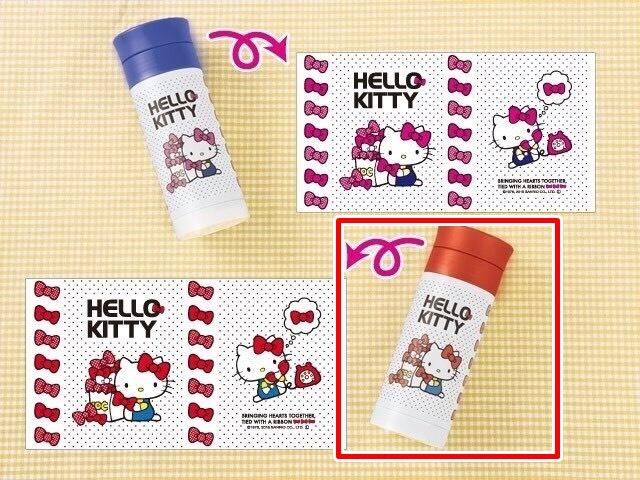 【真愛日本】15100300099 不鏽鋼保溫瓶300ml-點點紅 KITTY 凱蒂貓 三麗鷗 保溫瓶 杯 水壺