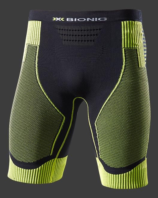 【7號公園自行車】X-BIONIC RUNNING POWER 機能男短褲(綠黑)