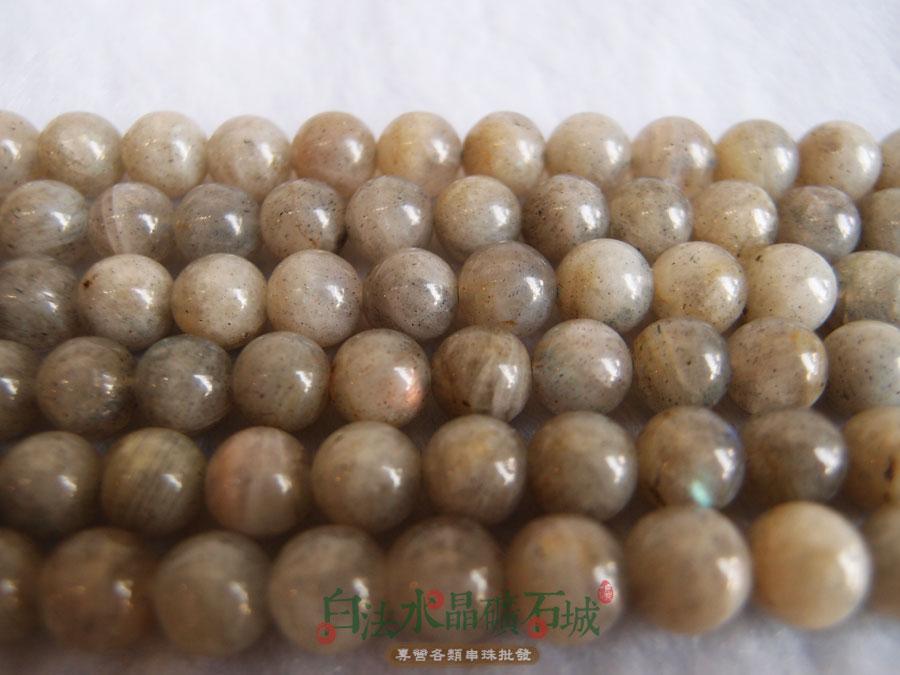 白法水晶礦石城 天然-拉長石 8mm 礦質 串珠/條珠 首飾材料(一件不留出清五折區)