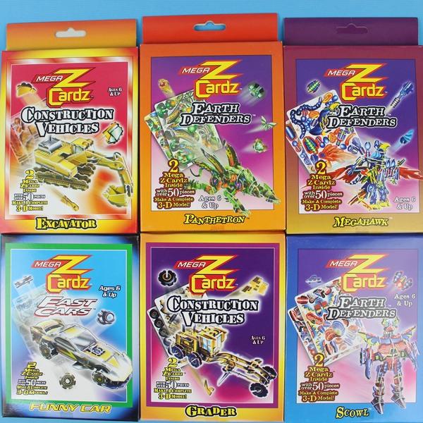 大3D立體拼圖卡 塑料DIY拼裝魔術卡(多款)/一袋10盒入{定30}~發2086607