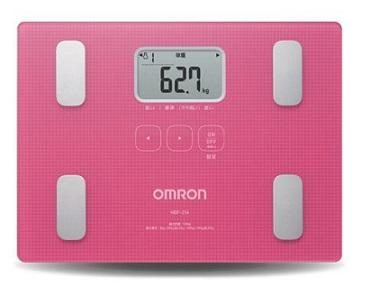 OMRON歐姆龍體脂肪機 HBF-216(粉紅色)