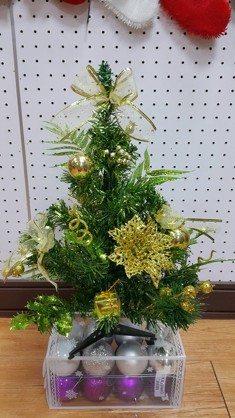 X射線【X454066】40cm裝飾聖誕樹(金),聖誕樹/聖誕佈置/聖誕燈/會場佈置/材料包/成品樹/小樹