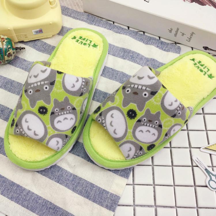 PGS7 (現貨+預購) 日本卡通系列商品 - 龍貓 滿版 絨毛 造型 室內 拖鞋 TOTORO 豆豆龍 吉卜力