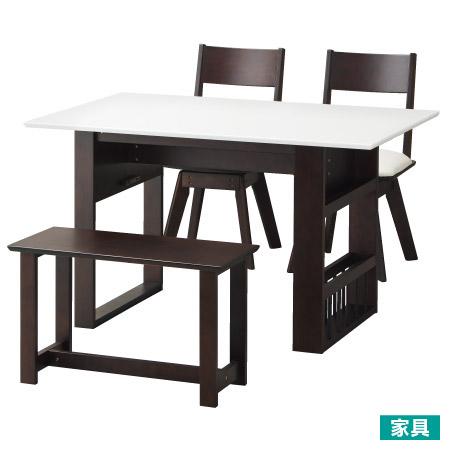 ◎天然木可伸縮餐桌椅組 PIA2