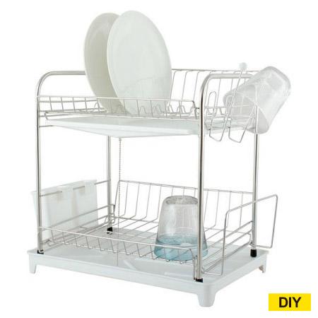 雙層碗盤瀝水架 TYBS-0064