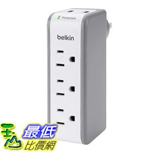 [105美國直購] Belkin 3-Outlet SurgePlus Travel Swivel Charger Surge Protector Dual USB Ports(2.1AMP/10Watt) BST300