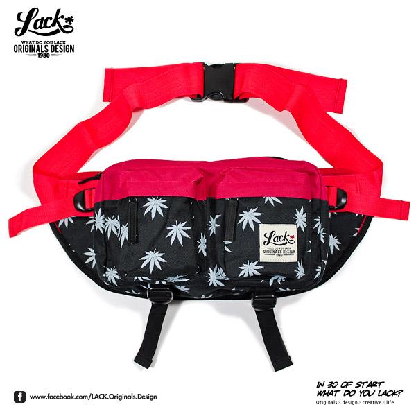LACK MARIJUANA WAIST BAG LA133901 - 大麻葉 多功能 內袋 腰包 Herschel 兩色