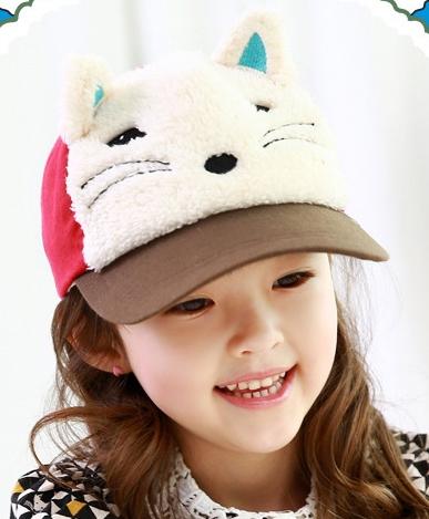 Lemonkid◆春秋冬可愛動物造型狐狸立體耳朵兒童鴨舌帽-咖啡色