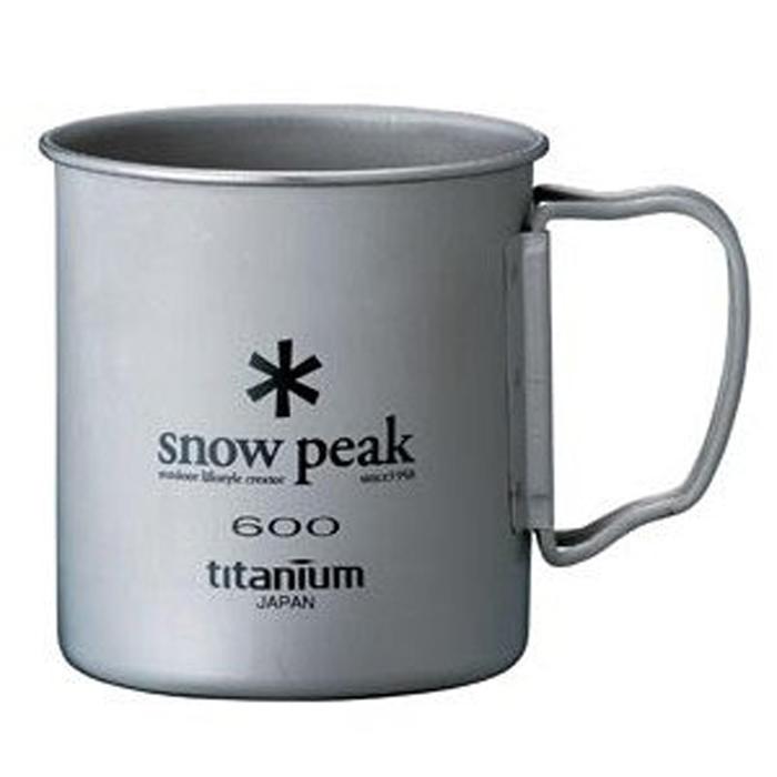 【鄉野情戶外專業】 Snow Peak |日本|  Titanium Single Wall 600 鈦合金摺疊把單層杯 _MG-044R