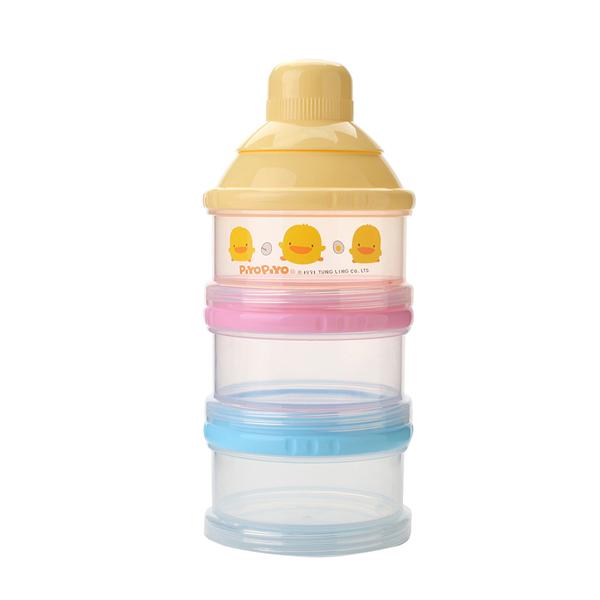 『121婦嬰用品館』黃色小鴨 不易漏3層奶粉罐