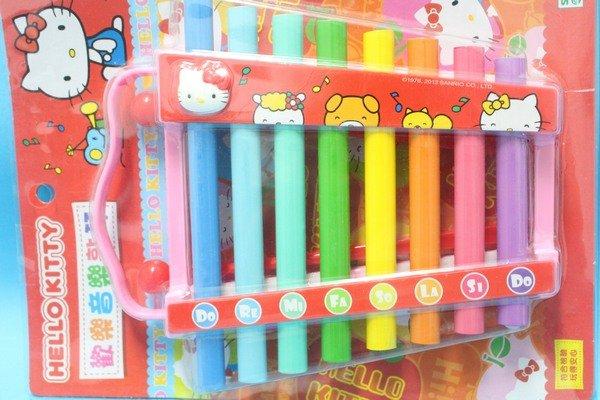 Hello Kitty凱蒂貓敲琴 KT歡樂音樂琴敲 敲打琴 鐵琴玩具/一組入{促250}~出清商品~