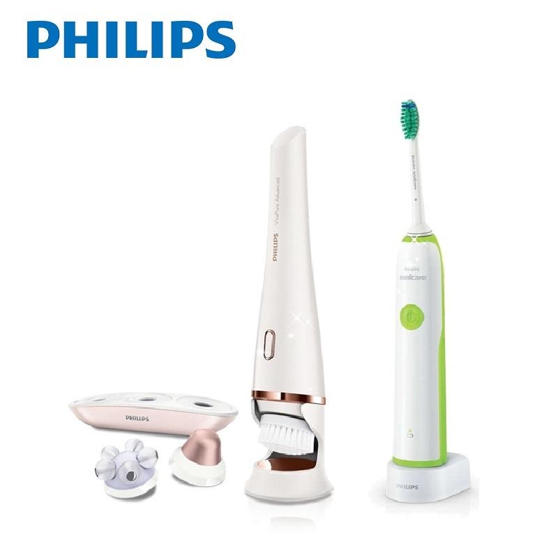 飛利浦PHILIPS淨顏煥采活膚SPA美膚儀(SC5370)送潔淨音波震動牙刷(HX3216)