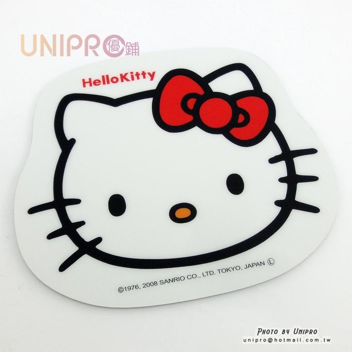 【UNIPRO】日貨 Hello Kitty 凱蒂貓 臉型 光學滑鼠墊 約16X14 三麗鷗正版授權 KT