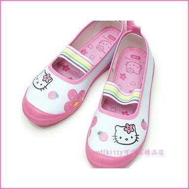 asdfkitty可愛家☆KITTY草莓防滑室內鞋/休閒鞋-23.5公分-韓國版