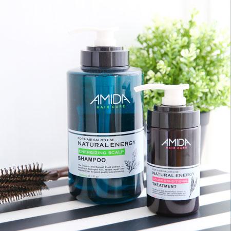 Amida 蜜拉 潔淨組 (平衡去脂洗髮精1000ml+角質蛋白護髮素250ml) 洗髮精 護髮【B062272】
