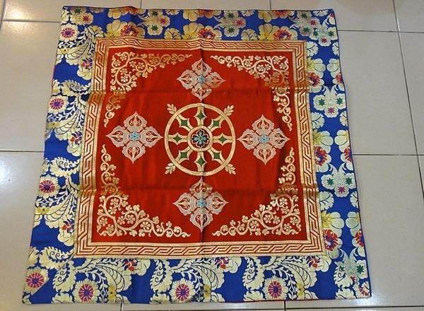 尼泊爾製 桌墊布**法輪*十字杵**實品莊嚴*