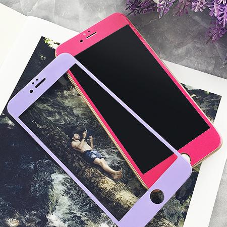 iPhone 7/7 Plus 閃亮粉彩鋼化玻璃保護貼 3D弧面 超薄軟邊 亮面 滿版 全包覆 全屏 保護膜 蘋果7 i7【N202193】