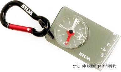 [ SILVA ] 36694 Carabiner 28 透明底板隨身指北針鑰匙圈 瑞典森林指北針 附掛勾